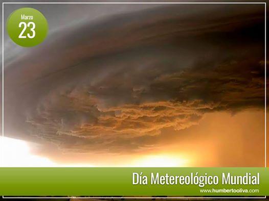 Con un llamado a la acción por el clima, hoy se celebramos el día meteorológico mundial, y felicitamos a todos los meteorólogos, investigadores y todas aquellas personas que han contribuido al conocimiento de las condiciones meteorológicas y del clima, para beneficio de la sociedad. Excelente día para todos.