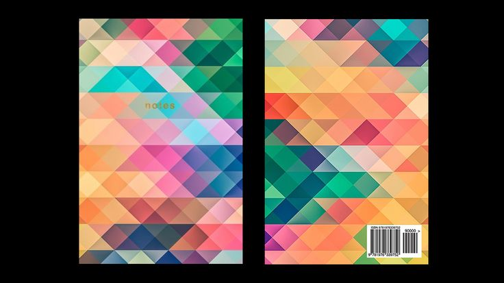 Colorful Geometric Pattern Notebook