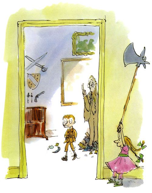 Quentin Blake, Illustration, Pencil and watercolors
