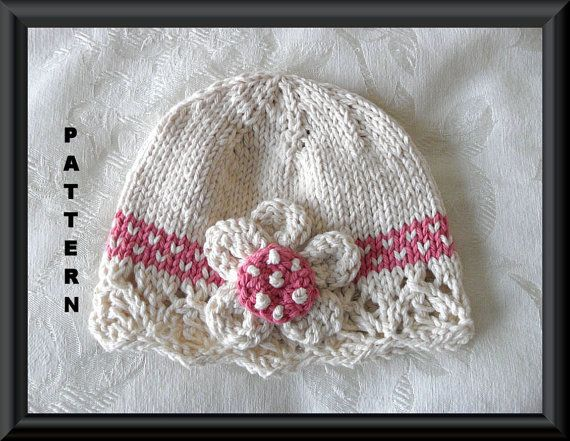 Knitted Hat Pattern Baby Hat Pattern Newborn by CottonPickings