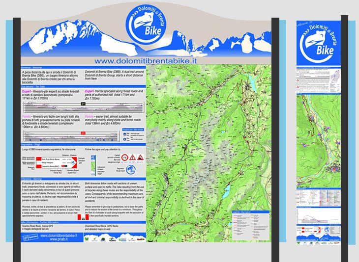 Segnaletica e sicurezza sul territorio, Dolomiti di Brenta Bike, Trentino - Mountain Bike Tour, MTB Dolomiti, escursioni in mountain bike, vacanza in bicicletta tra le Dolomiti