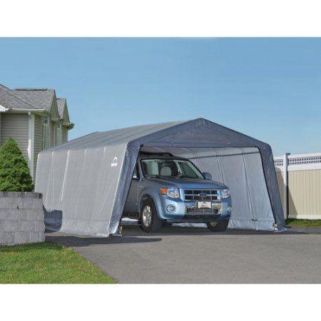 Garage-in-a-Box 12' x 20' x 8' Peak Style Instant Garage, Gray