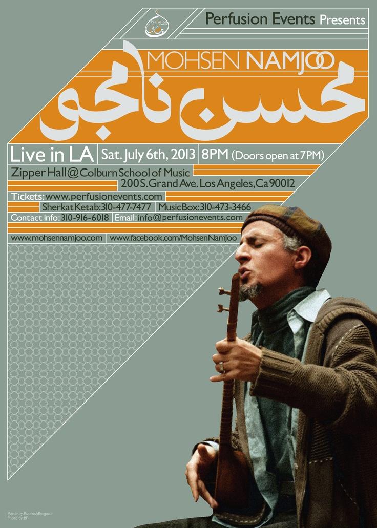 Mohsen Namjoo | Live in LA | Poster by Kourosh Beigpour... [Mohsen Namjoo…