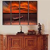 O navio no por do sol da lona emoldurada Conj... – BRL R$ 201,91