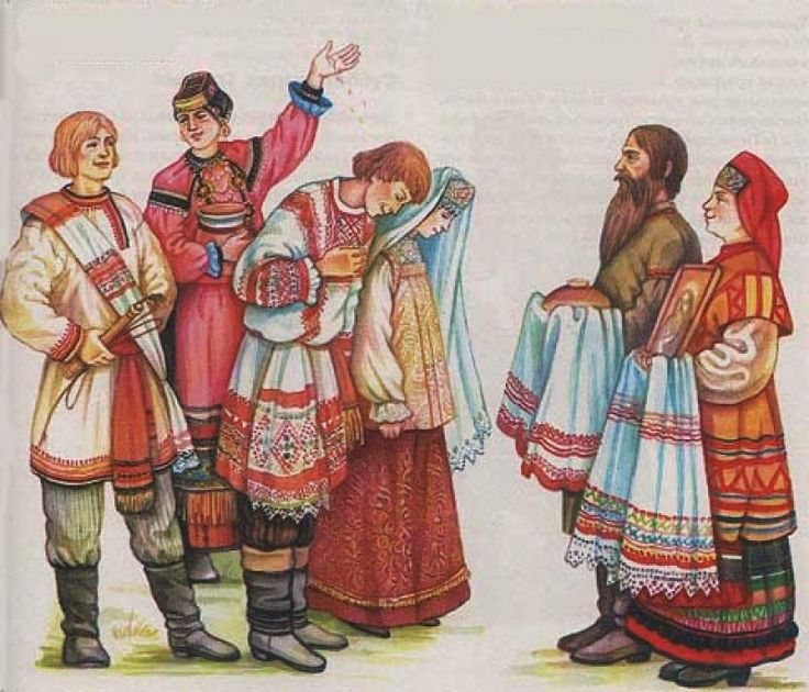 Русская свадьба картинки