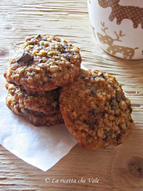 Cookies al cioccolato fondente e fiocchi d'avena