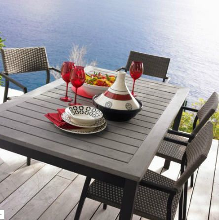 table de jardin boston t prix promo alinea ttc. Black Bedroom Furniture Sets. Home Design Ideas