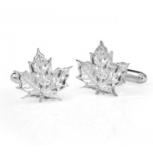 These handmade solid sterling silver maple leaf cufflinks are a funky and sophisticated way to say you are proud to be Canadian!