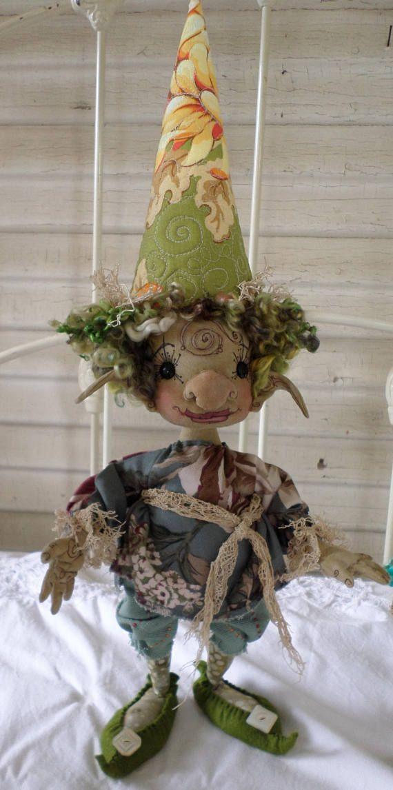 OOAK Gnome Art Doll  Eulalia Daffodil Bramblewood  Faerie