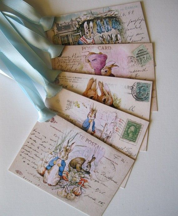 These adorable tags with Beatrix Potter images on them would be wonderful for a tag for a gift for a child (or adult) ! You can use them on