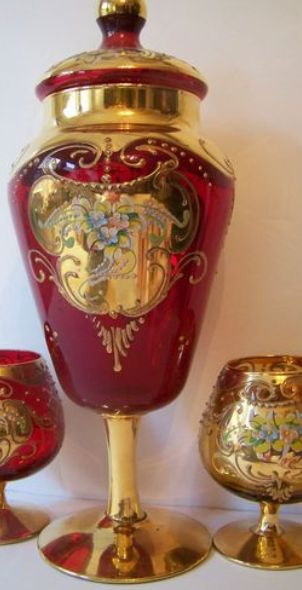 564 Best Images About Czech Glass High Enamel On Pinterest Ruby Red Glass Vase And Vase