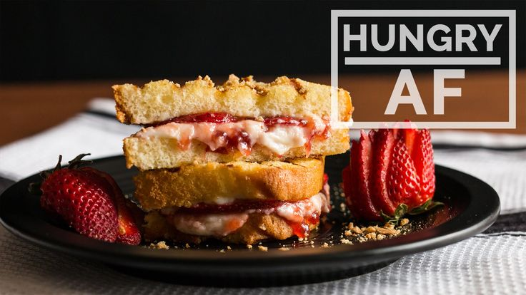 Grilled Strawberry Cheesecake Sandwich l Hungry AF