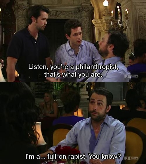 sunny in philadelphia online dating If you were to sum up this past season of it's always sunny in philadelphia  it's always sunny in philadelphia:  the worst online dating.
