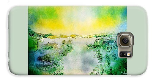 Lake Of Transparency Galaxy S6 Printed with Fine Art spray painting image Lake Of Transparency by Nandor Molnar (When you visit the Shop, change the orientation, background color and image size as you wish)