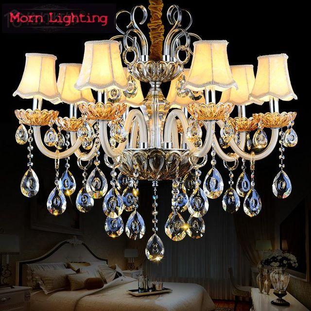 Роскошные Хрустальные Люстры В Европейском Стиле Гостиной Лампы И Фонари Творческий Спальня хрустальная люстра