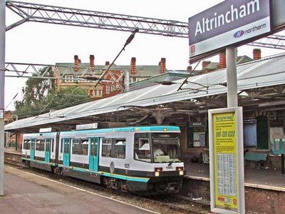 Metrolink tram at Altrincham Station