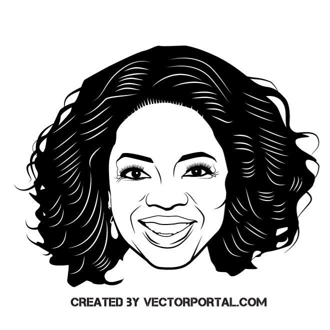 Tv Personality Oprah Winfrey Vector Illustration Vector