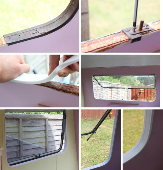 Cassiefairys vintage caravan makeover project - retro window trim
