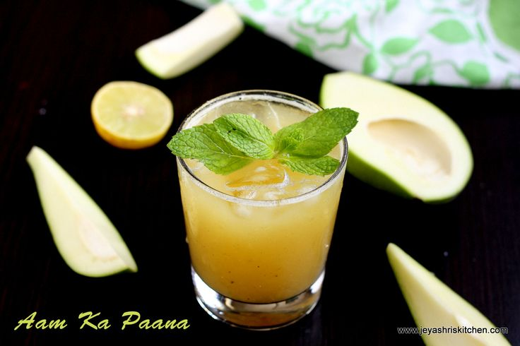 Raw mango drink - aam ka paana - http://www.jeyashriskitchen.com/2013/04/aam-ka-paana-raw-mango-drink-summer.html