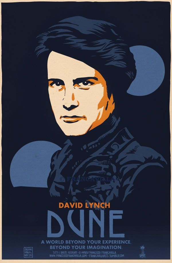 ~~ DUNE ~~Poster Art by Francesco Francavilla  Movie Anniversary time! DUNE, directed by David Linch, starring Kyle MacLachlan, and based on the 1965 novel by Frank Herbert