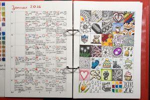 31 Tage Projekt Zeichen-Kalender - Vorlagen Download