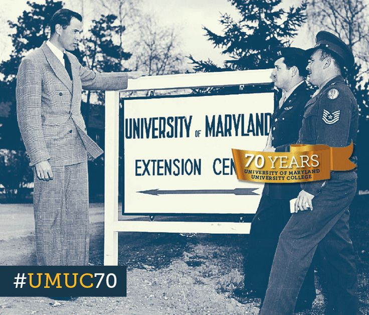 #ThrowbackThursday to 1950 with faculty member Ted Stell at Furstenfeldbruck Air Base, West Germany. #umuc70