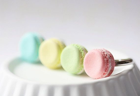 French Macaron Ring from minaturepatisserie on etsy.  So cute, but wouldn't you be constantly hungry wearing these?