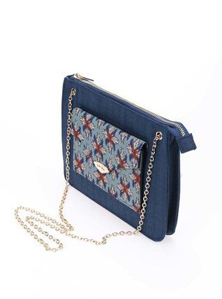 Ruby Shoo - Tmavě modrá vzorovaná kabelka  New York - 1