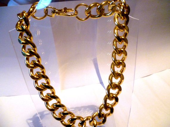 Ultra bold: Chunky Gold Necklace Chunky jewelry by tarocollection