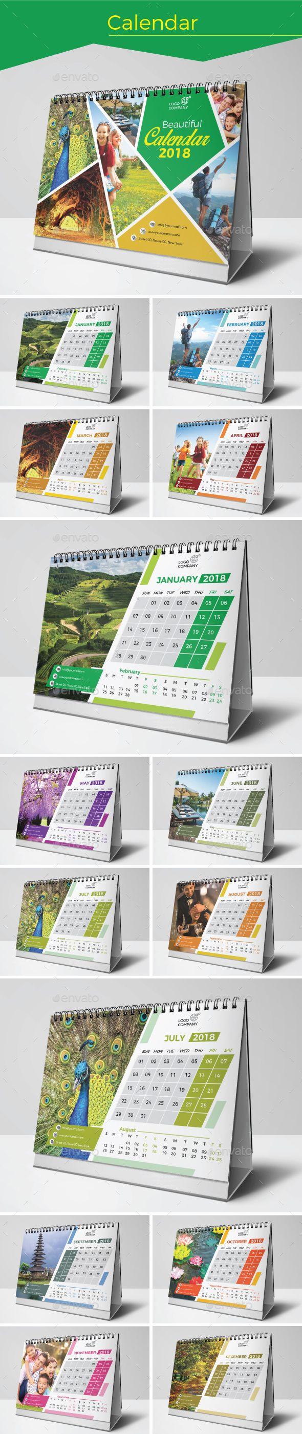 Calendar Template Vector EPS, AI Illustrator