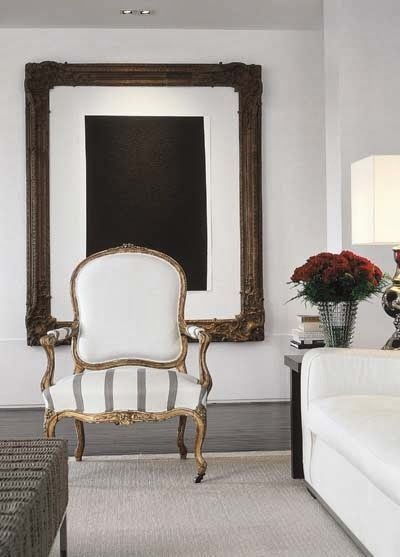 We LOVE gilded armchairs! They just make a room. View our collection of over 15 chairs here: