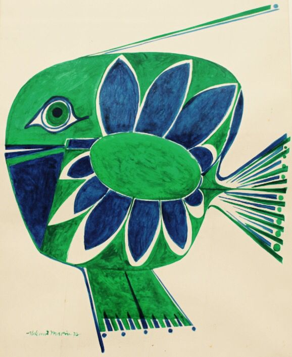 Peixe Verde e Azul. - Aldemir Martins