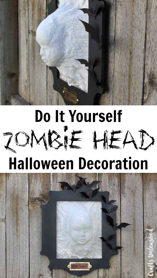 diy halloween decoration zombie head crafts unleashed - Do It Yourself Halloween Decorations