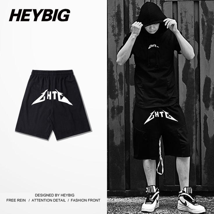Men Board Shorts HEYBIG hiphop Sweatpants Shorts 2016 New high street Skateboard trainning Bottoms CN Size M-3XL