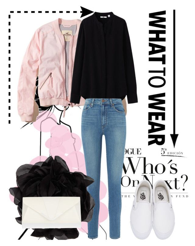 """party#7"" by tanttu-haapop on Polyvore featuring Hollister Co., Uniqlo, Paige Denim, Vans, Lanvin and Accessorize"