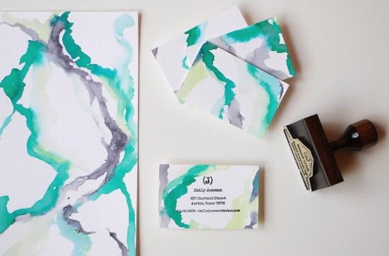 They used this bkgrd for business cards, but I think it would be lovely for greeting cards, too.