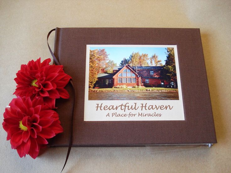 Guest Book Cover Template ~ Vacation home guest book family cabin sign in