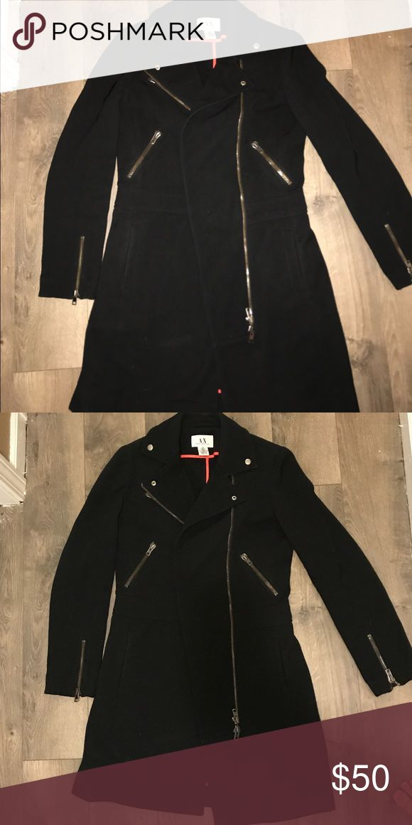 Armani Exchange coat Amazing coat, just a little too small for me. sturdy, great condition. Tagged as M, Fits like a small A/X Armani Exchange Jackets & Coats