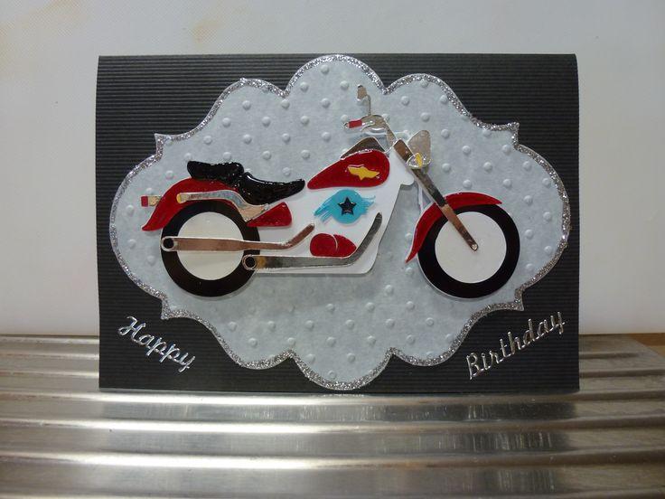 Motor Bike card using my Silhouette