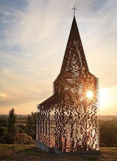 Iglesia transparente en Borgloon, Bélgica