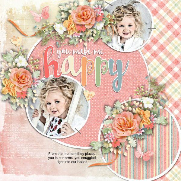 Template i heart you #8 by Heartstrings Scrap Art. Kit Sweetness by Eudora Designs. Photos per kind favour of Anastasia Serdyukova Photography.