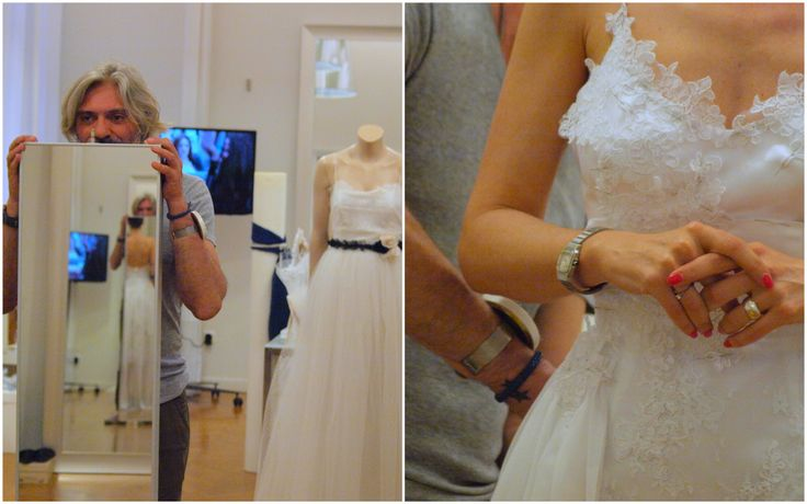 Unique and bespoke handmade wedding gown at atelier Konstantinos Tsigaros