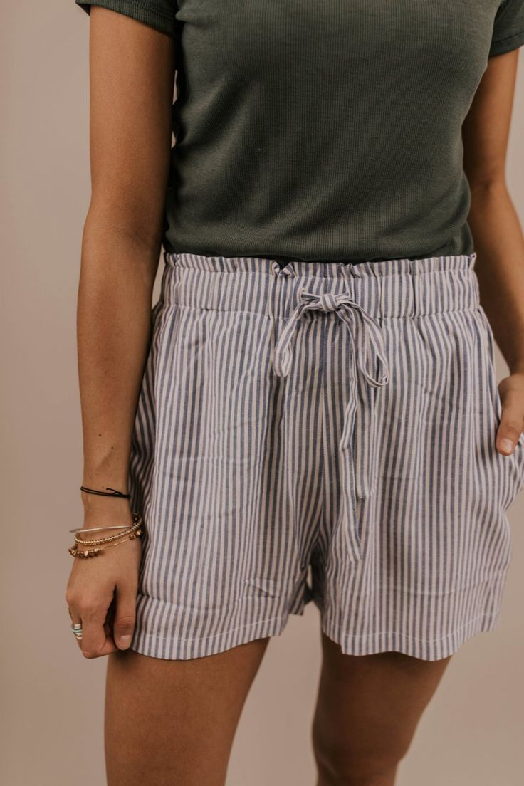 Lightweight Stripe Shorts – Women's Beach Shorts | ROOLEE