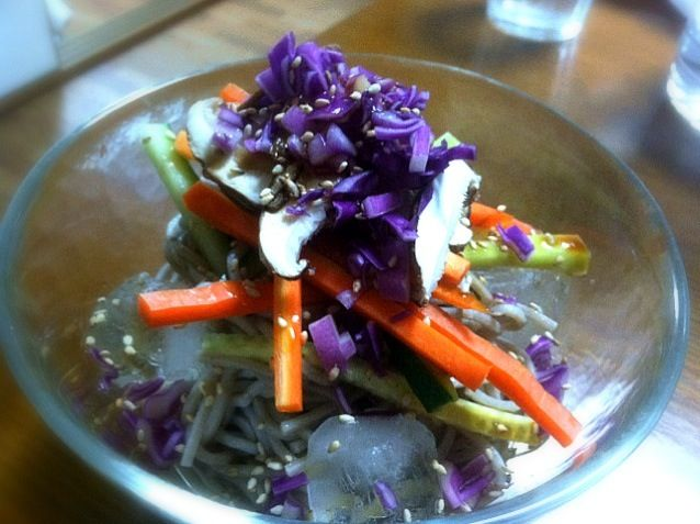Hello, could you tell me what you used for this purple vegetable??  Beautiful color!! - 13件のもぐもぐ - cold soba! by M Henry Ahearn