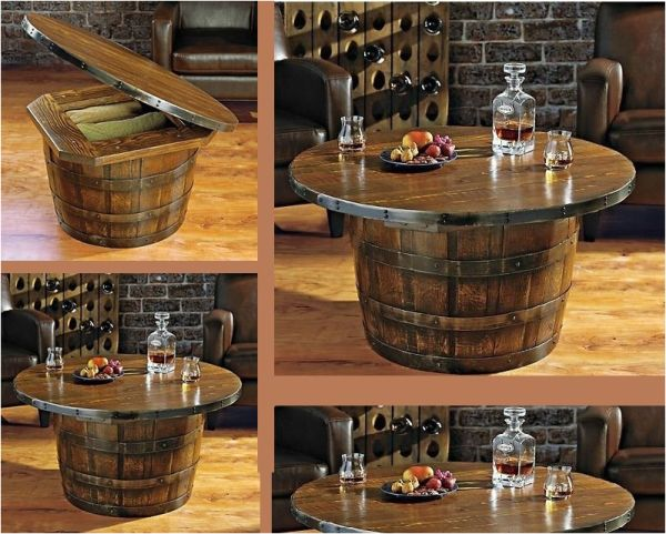 Wine/Whiskey Barrel Coffee Table – Tips On How To Make It