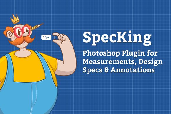 SpecKing Photoshop Plugin ~ Plug-ins on Creative Market $19 Photoshop Plugin for Measurements, design Specs & Annotations