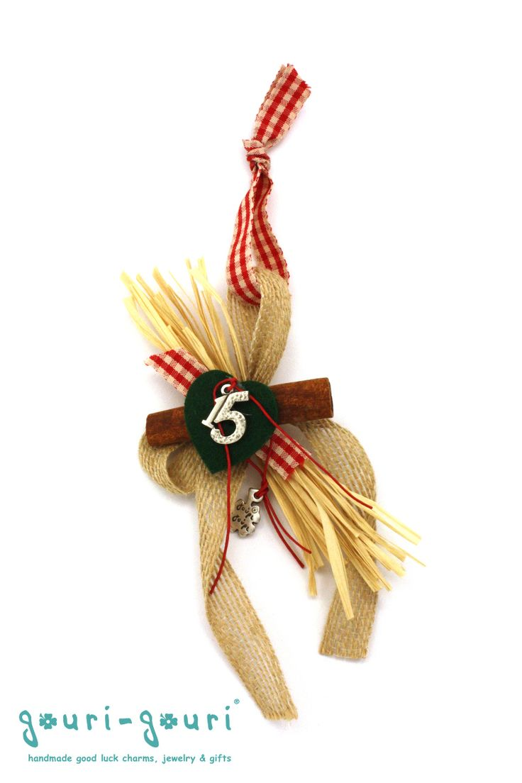 gouri-gouri! the good luck charm shop - G.CHRIS185 - Cinnamon '15 Christmas charm