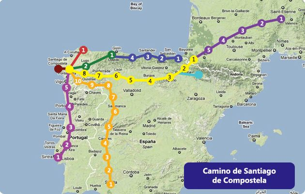 Camino Santiago de Compostela - I'll do this one day :)