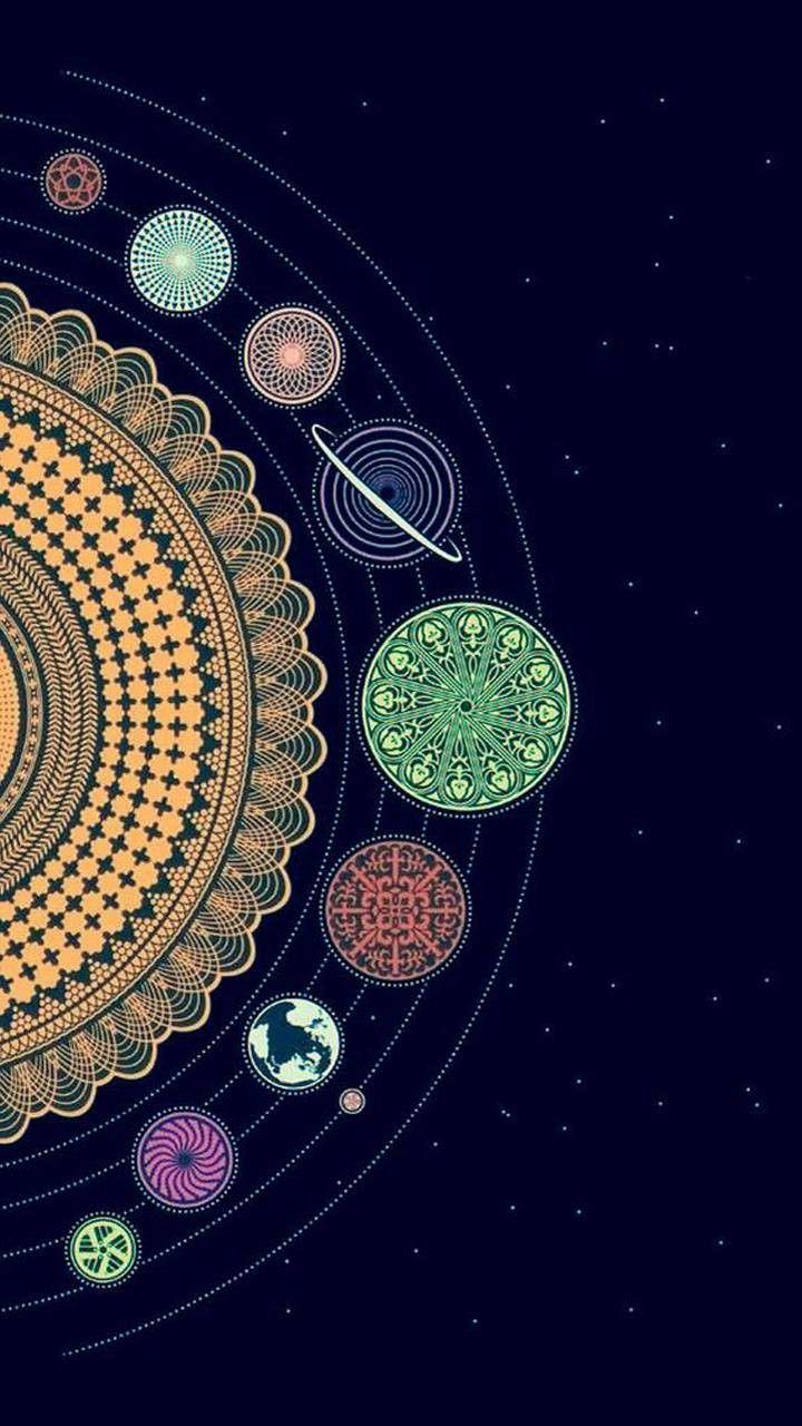 Muchatseble Moon Design Art Infinity Art Chakra Art