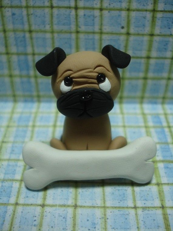 Personalized Pug Clay Figurine via Etsy
